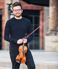 Alex Casson Violin Playing at Chamber Music Festival in Valentia 2019