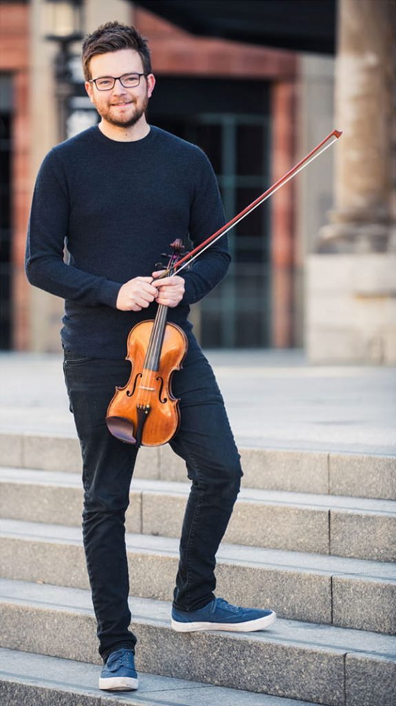 Alex Casson Violin. Playing at Chamber Music Festival in Valentia 2019