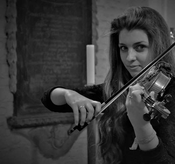 Emma Curtis Violin. Playing at Chamber Music Festival in Valentia 2019